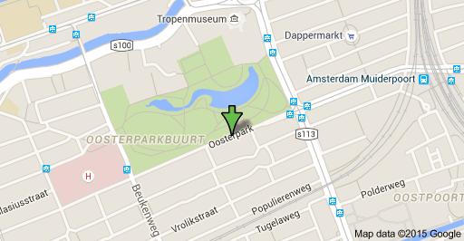 Peta Oosterpark, Amsterdam.